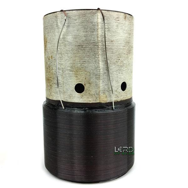 """2.5"""" Dual 4 Ohm Round Aluminum Voice Coil"""