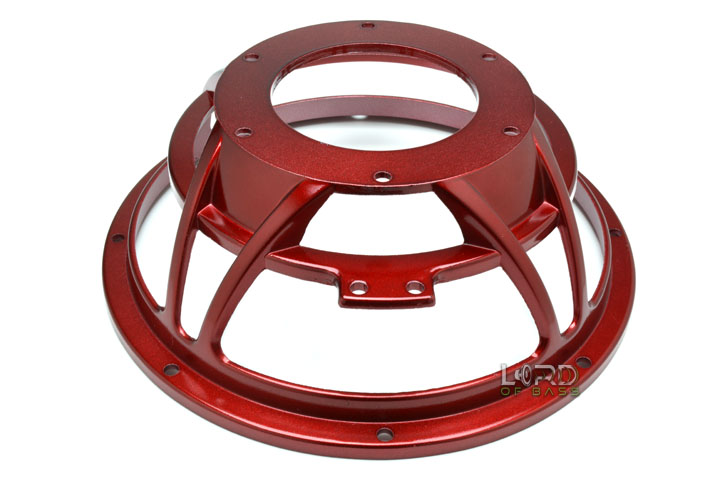 "10"" Red Eight Spoke Subwoofer Frame"