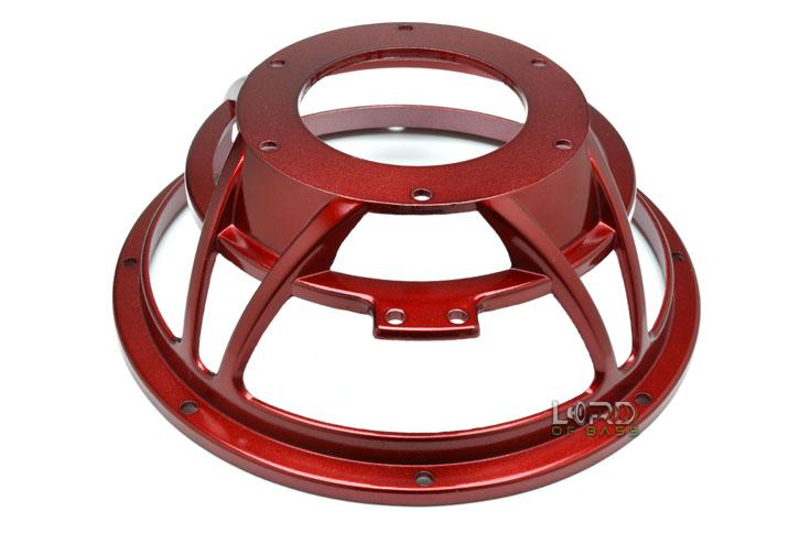 "10"" Red Eight Spoke Subwoofer Frame"