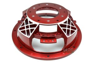 "10"" Red Four Spoke Subwoofer Frame"