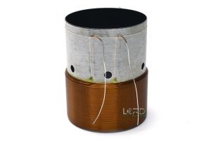 "2.5"" Dual 4 Ohm Round Copper Voice Coil"