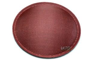 "4.72"" (120mm) Red Carbon Fiber Dust Cap"