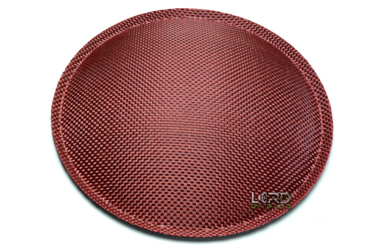 "4.72"" (120mm) Red Carbon Fiber Dust Cap"