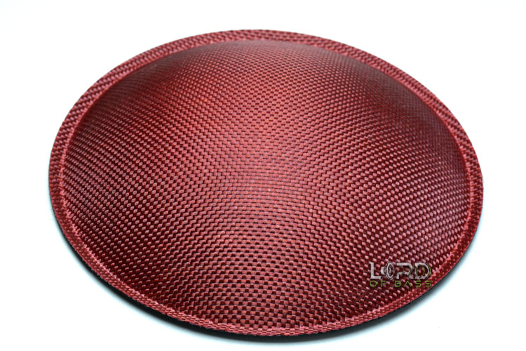"7.08"" (180mm) Red Carbon Fiber Dust Cap"
