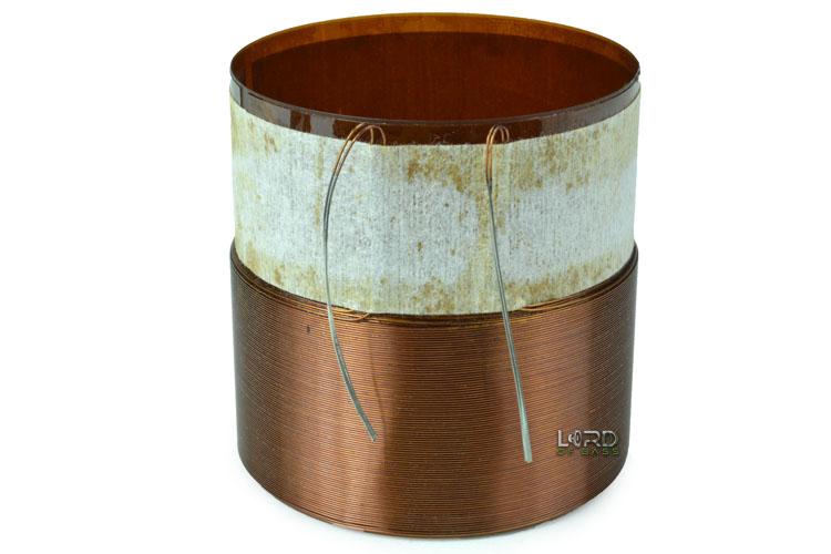 """2.5"""" Single 3 Ohm Round Copper Bifilar Voice Coil"""