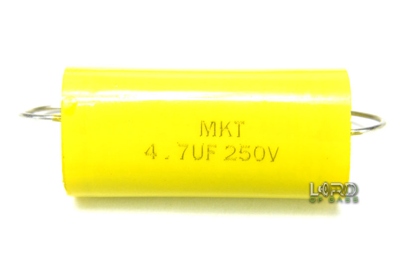 4.7uF 250V Metallized Polyester Film Capacitor (2 Pack)