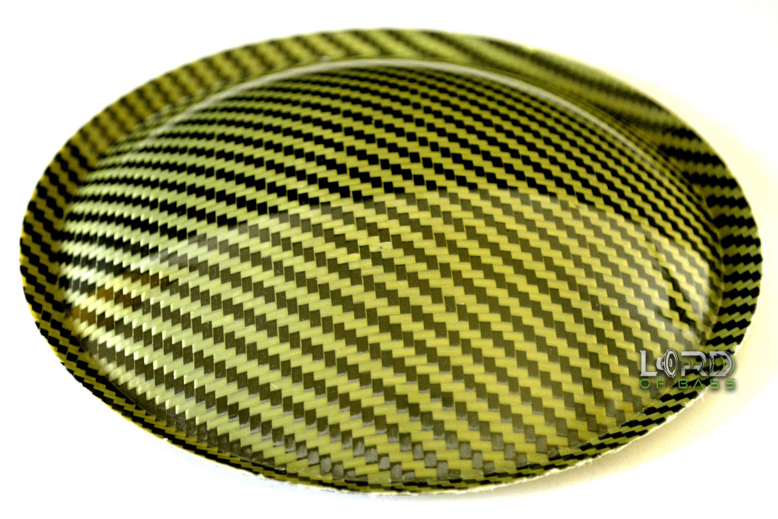 "5.9"" (150mm) Carbon Fiber Dust Cap Yellow / Black"