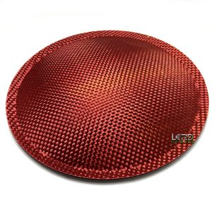 "7.08"" (180mm) Red Carbon Fiber Dust Cap"