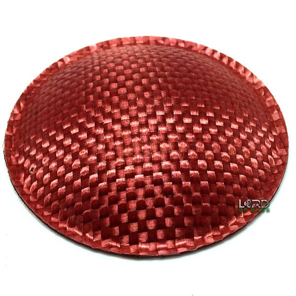 "2.9"" (74mm) Red Carbon Fiber Dust Cap"